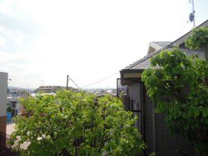 小田急線祖師ヶ谷大蔵駅8分、世田谷区砧4丁目1K賃貸アパート角部屋からの眺望